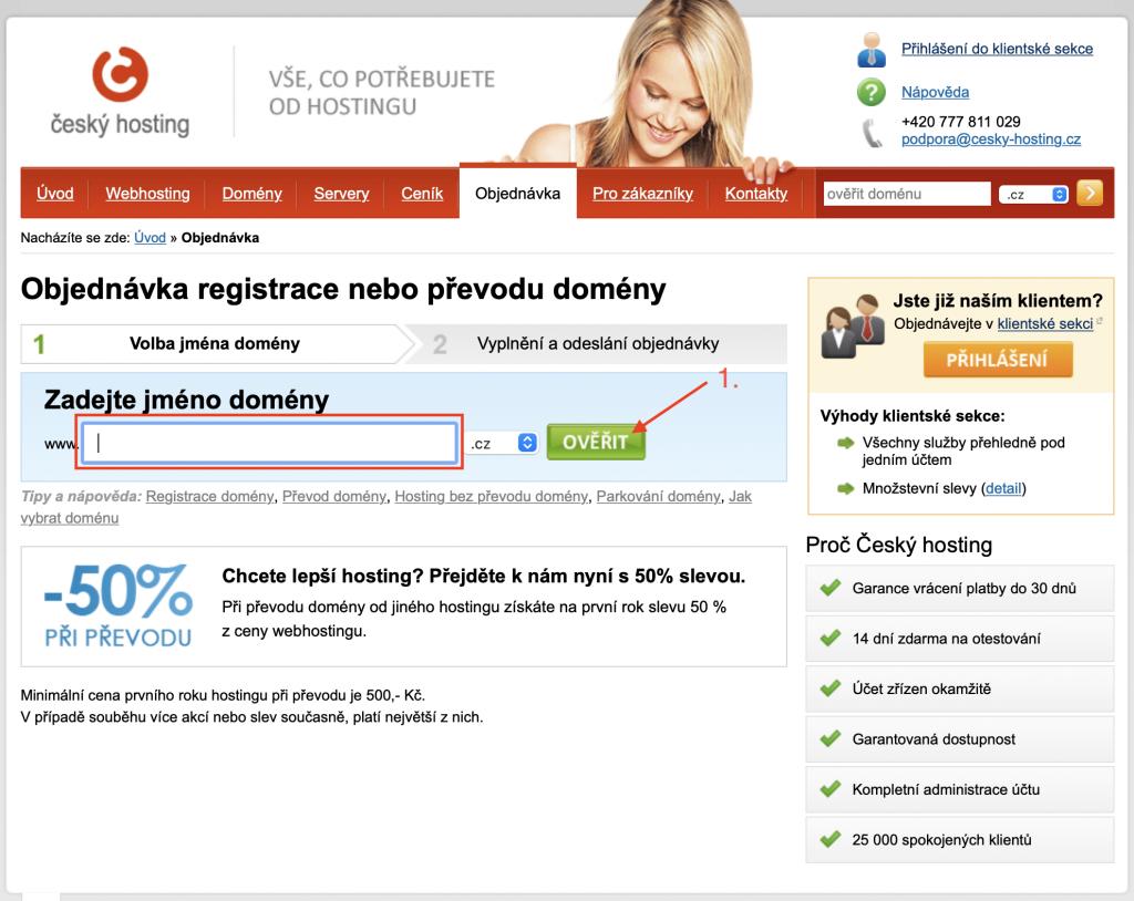 Český hosting jak použít promo kód