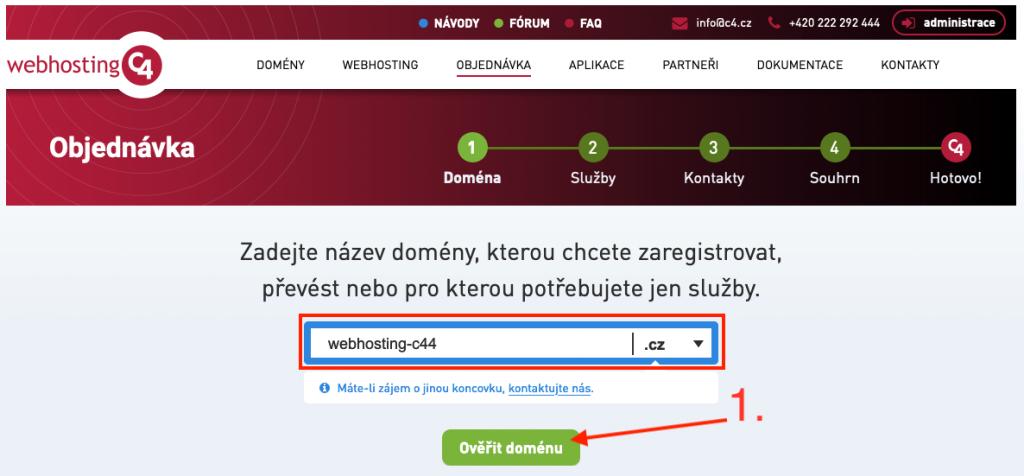 Webhosting C4 slevový kupón